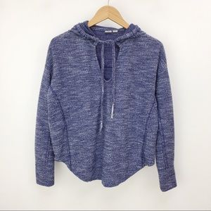Roxy tie front pullover blue surf hoodie XS
